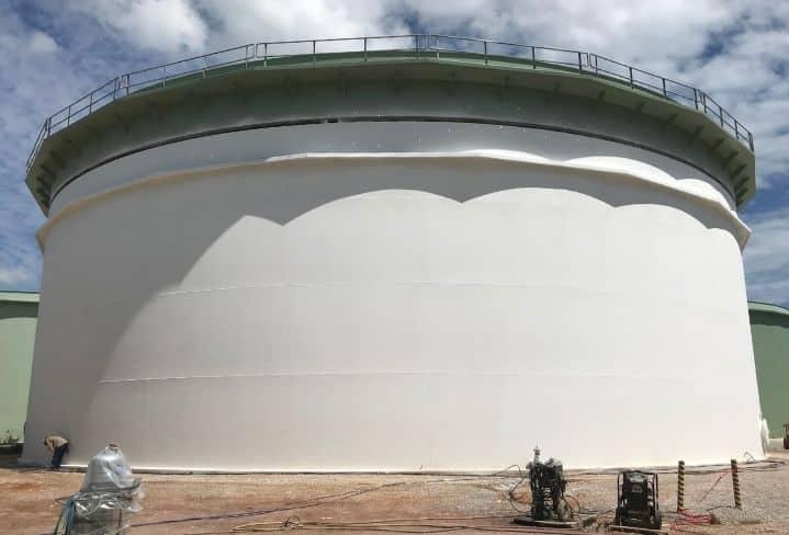 EonCoat coated storage tank
